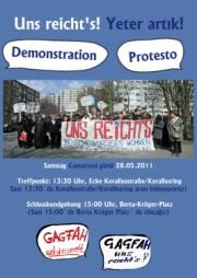 Plakat zur Demonstration